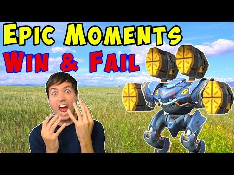 War Robots Epic Win & Fail Gameplay Moments WR