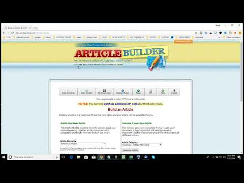 Article Builder Review - How To Create Articles - Unlimited Articles