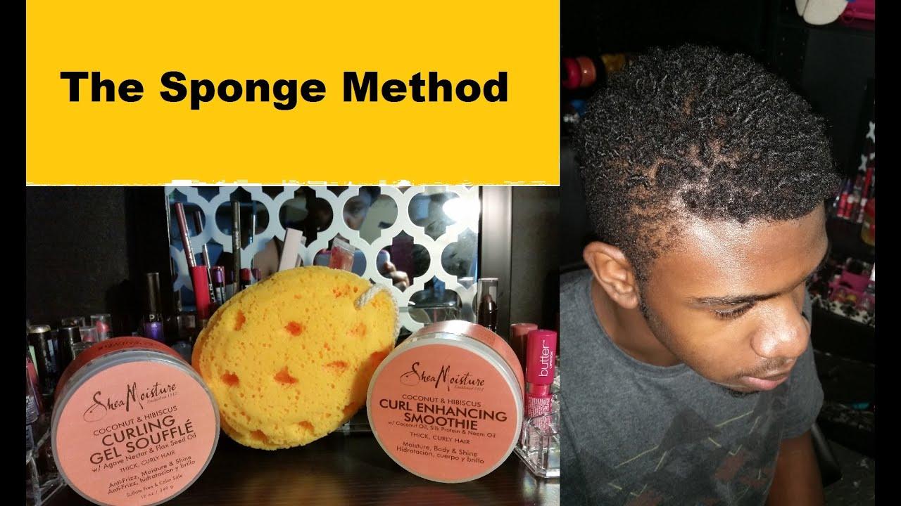 The Sponge Method: Styling short natural hair - YouTube