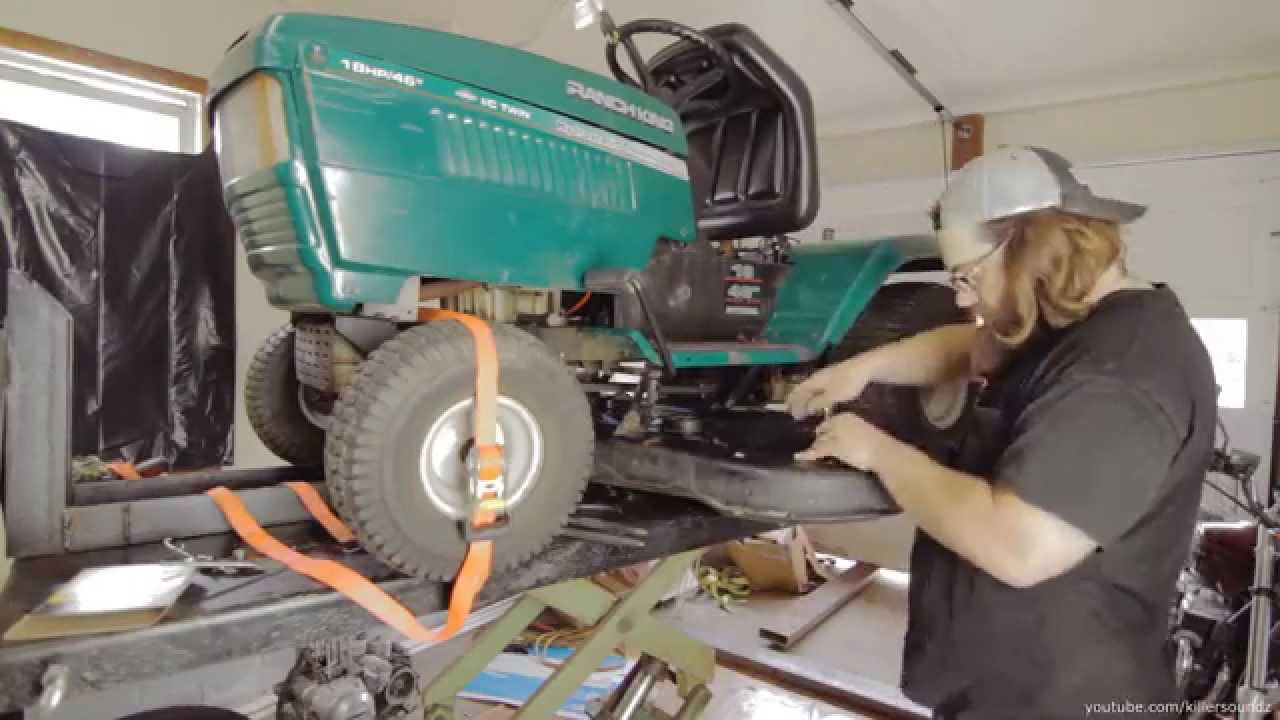 how to replace a deck belt on a mtd riding lawn tractor youtube scag belt diagram ranch king mtd belt diagram [ 1280 x 720 Pixel ]