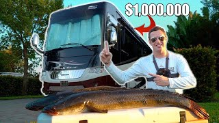 Fishing Behind $1,000,000 RV + URBAN Snakehead Catch, Clean, Cook!