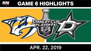 Download NHL Highlights   Predators vs. Stars, Game 6 - April 22, 2019 Mp3 and Videos