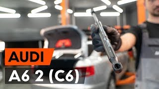 Kā nomainīt Bagāžnieka Amortizatori AUDI A6 (4F2, C6) - tiešsaistes bezmaksas video