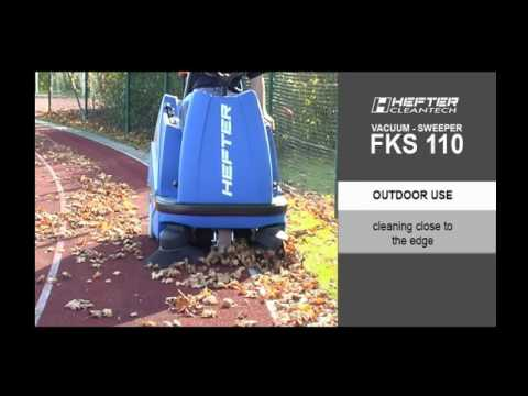 Ride on sweeper battery operated FKS110 HEFTER cleantech