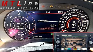 VW Passat B8 – activation of 10 colours illumination for instrument cluster and multimedia device