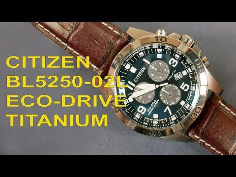 Citizen BL5250-02L Eco-Drive Titanium Perpetual Calendar Chronograph Watch