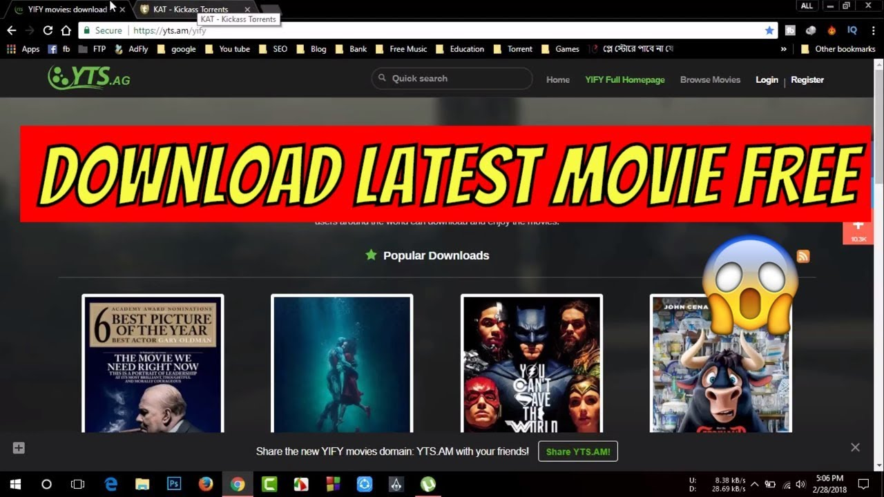 utorrent movies free download 2018