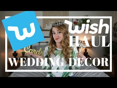 WISH HAUL: WEDDING DECOR