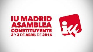 03/04/2016 Asamblea Constituyente de IU Madrid sesión de mañana