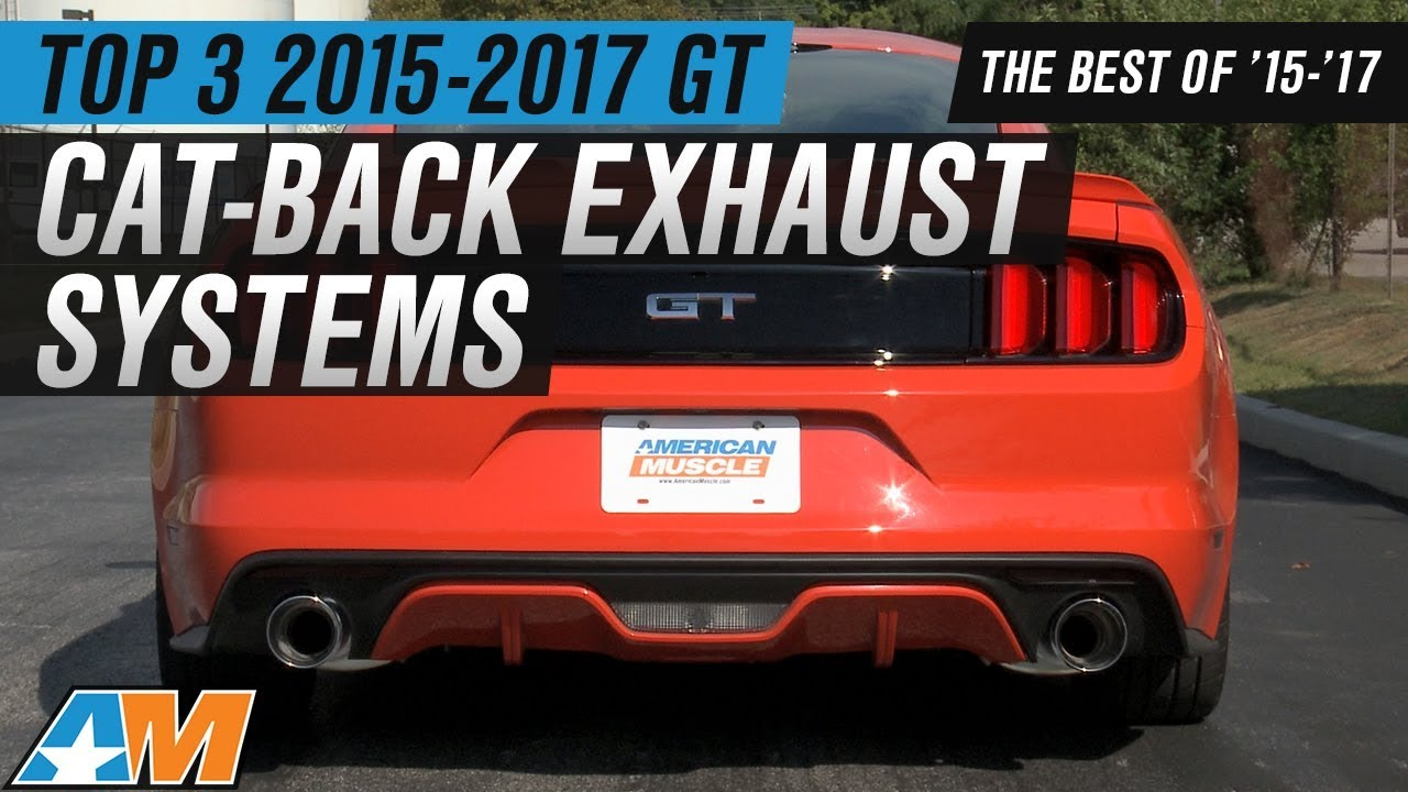 Best 2015 2017 Mustang Gt Cat Back Exhaust Systems Reviewed Youtube