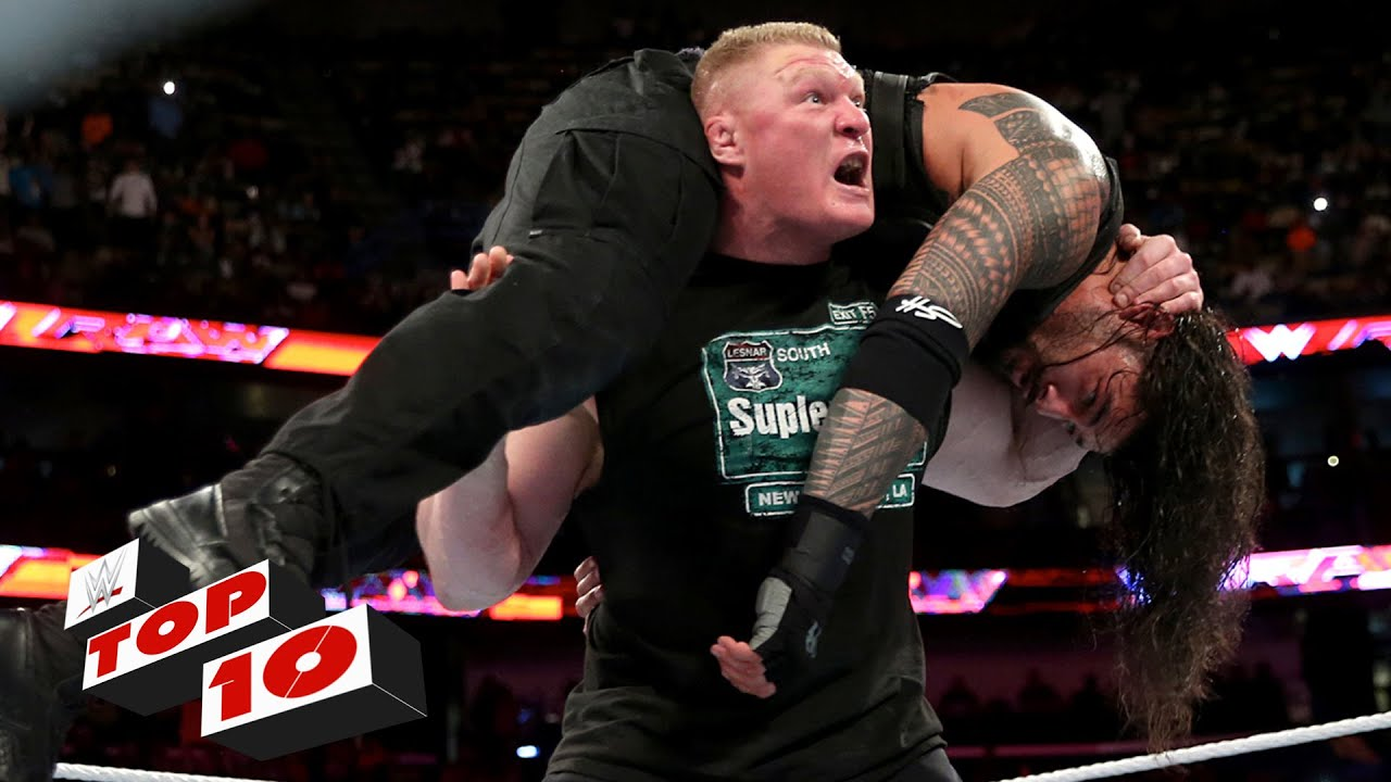 Top 10 Raw Moments Wwe Top 10 January 11 2016 Youtube