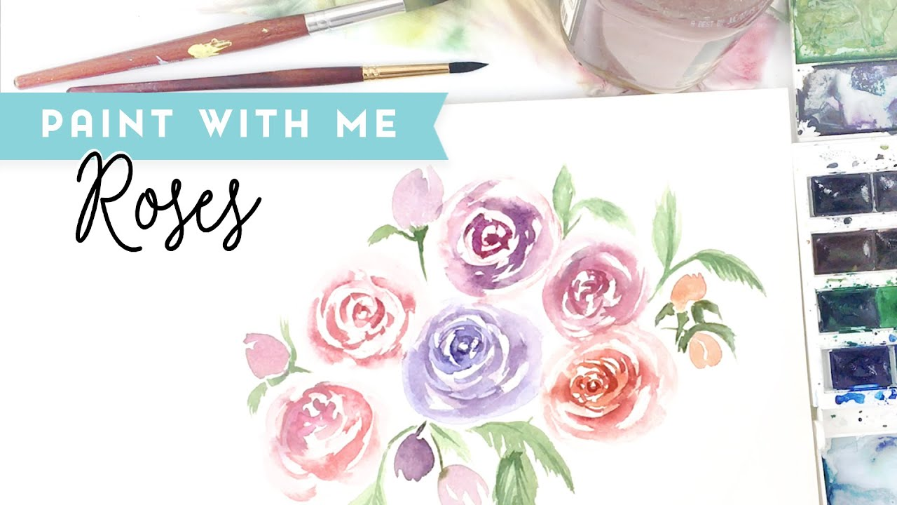 How to Paint - Easy Watercolor Rose Tutorial