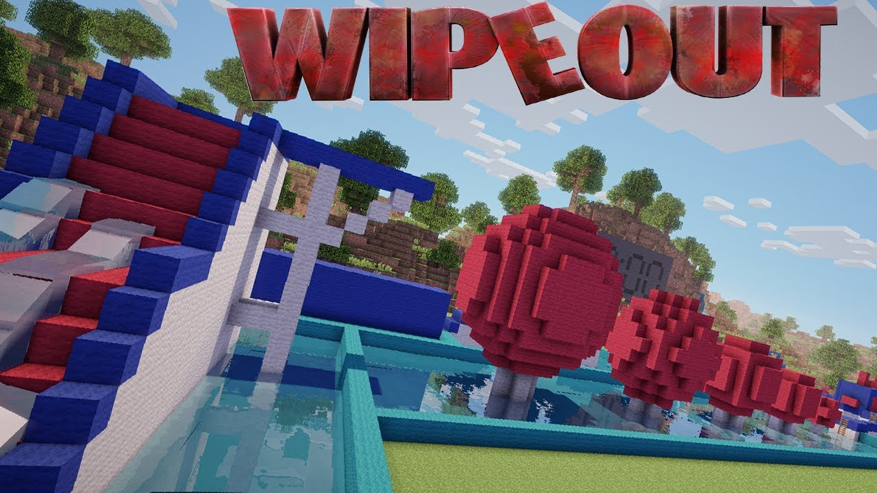 Circuito Wipeout : Wipeout minecraft teaser youtube