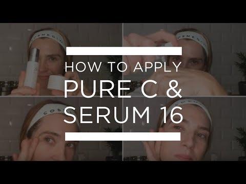 Tutorial]: How to Apply Cosmedix Pure C & Serum 16 - YouTube