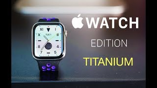 Apple Watch Edition Series 5 Titanium ASMR Unboxing and Review / Durable & Luxurious!
