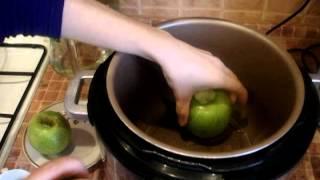 Печёные яблоки без кожуры в мультиварке-скороварке-(Baked apples without skin)