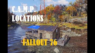 (Fallout 76) GREAT C.A.M.P. / settlement locations!