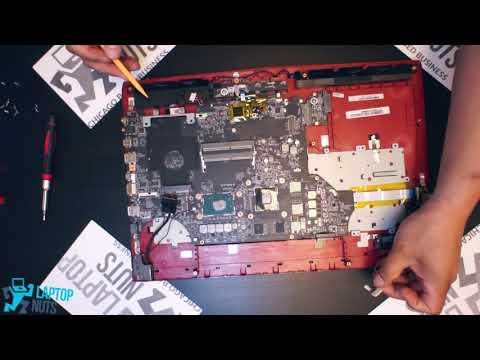 Laptop MSI GE72 Disassembly Take Apart. Drive, Mobo, CPU on other parts Removal
