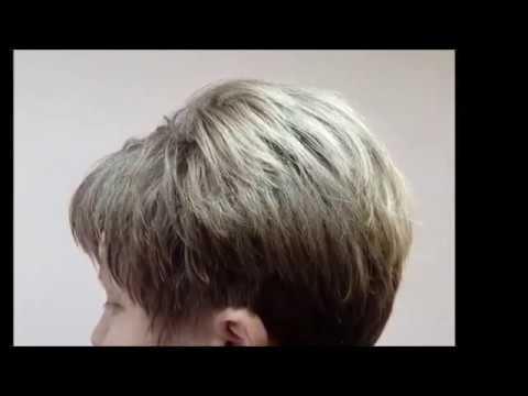 Укладка на короткие волосы №3