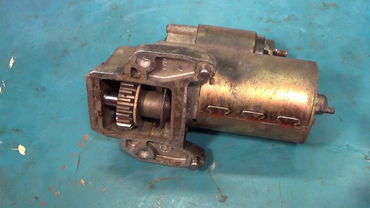 Starter motor replacement (2001-2008 Ford Escape) - YouTube