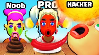 EATING a MAX LEVEL HOTTEST FOOD in Extra Hot Chili 3D