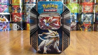 Pokemon Solgaleo GX Tin Opening