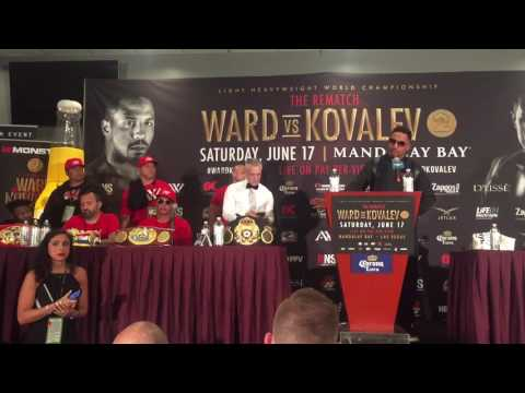ANDRE WARD PASSIONATELY BREAKS DOWN OF 8TH ROUND KOVALEV STOPPAGE...
