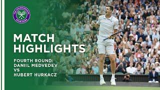 Daniil Medvedev vs Hubert Hurkacz | Fourth Round Highlights