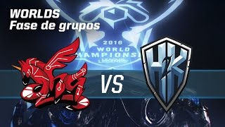 AHQ E-Sports Club VS H2K - #worldsLVP6 - World Championship 2016 - Fase de grupos 6