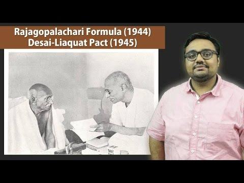 HFS12/P1: Rajagopalachari Formula (1944) Desai-Liaquat Pact (1945)