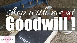 Goodwill haul / shop with me