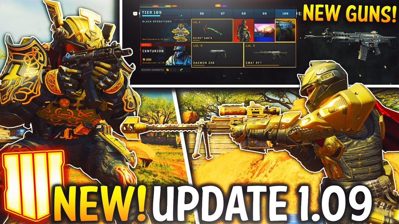 black ops 4 update patch notes 1.09