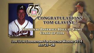 2014 BBWAA Hall of Fame Electee Tom Glavine