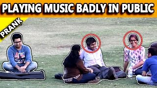 Playing Music Badly in Public - Pranks in India - TST Pranks