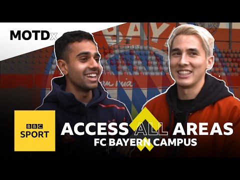 Timbsy tours FC Bayern's academy with rising star Sarpreet Singh | MOTDx Access All Areas