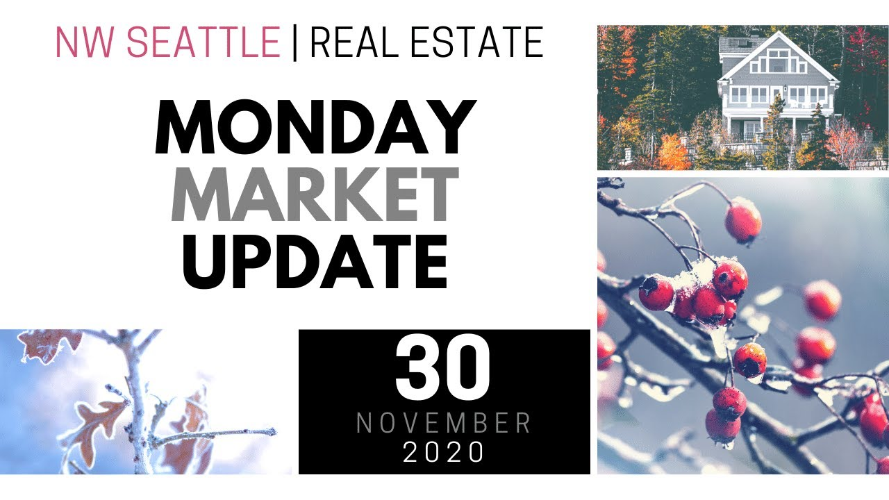 Monday ​NW Seattle Real Estate Market Update | November 30th, 2020