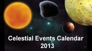 Celestial Events Calendar  2013