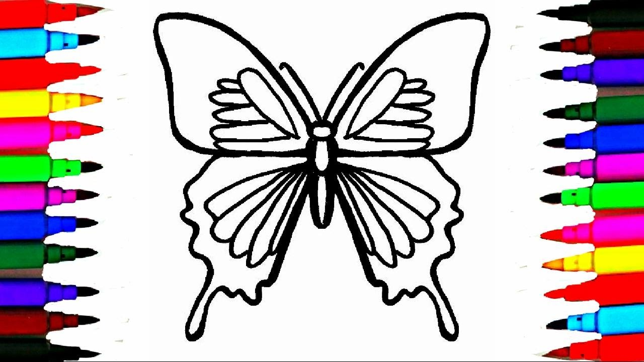 Colours For Kids Butterfly Coloring Pages L How To Draw Insects Videos Learn Colors
