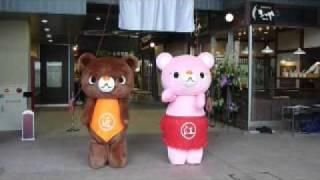 近江町市場の春祭り初日。ちかちゃん・えっちゃんのお披露目がされました。