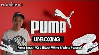 ★ PUMA Smash V2 (Black White & White Peacoat│Unboxing│Edition 2018)