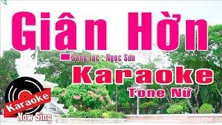 Giận Hờn Karaoke [ Beat Chuẩn Tone Nữ ]