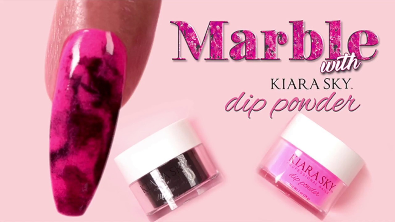 Marble Nail Art Tutorial With Dip Powder
