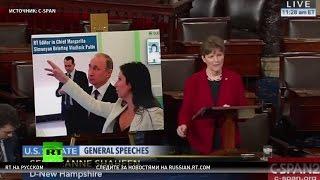 В сенате США показали «рассекреченную» фотографию Путина и Симоньян