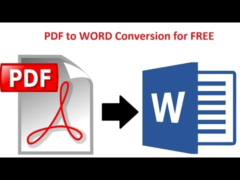 How To Convert PDF To Word Without Software Online OCR - 100% FREE
