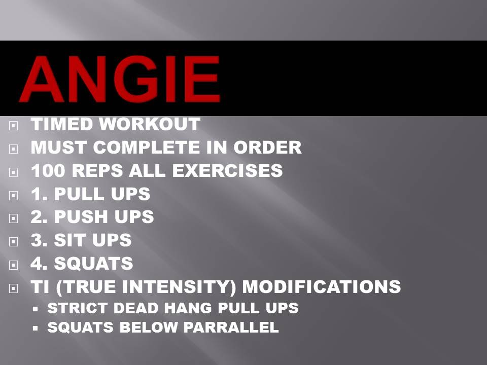sample crossfit workout