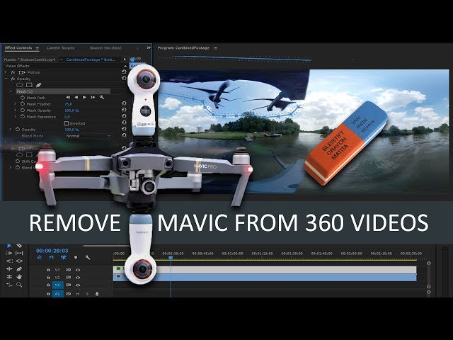 How to remove DJi Mavic from Samsung 360 video ...