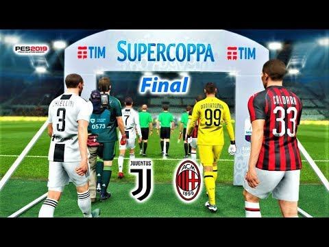 JUVENTUS vs MILAN | Supercoppa Italiana Final | PES 2019 Gameplay