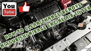 How to Change engine air filter for Mitsubishi mirage g4