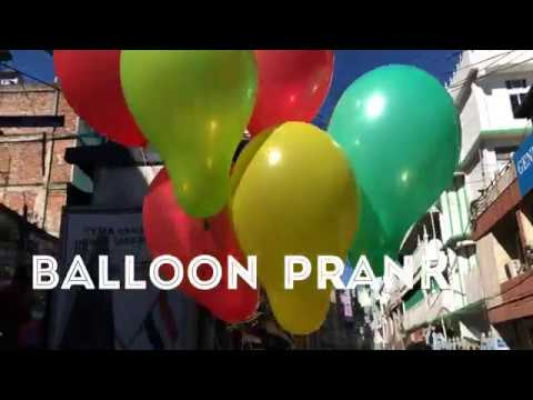 Balloon prank public prank | New Year Wish Aizawl |
