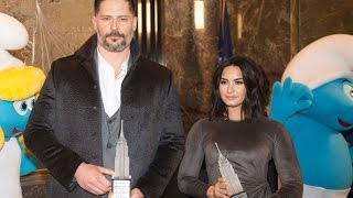 International Day of Happiness w/ Demi Lovato and Joe Manganiello - ESB Lighting Ceremony
